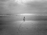 St. Augustine, Florida - Child On The Beach Atlantic Ocean Veggoverføringsbilde av Henri Silberman