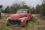 Old Red Chevrolet Truck Wall Decal by Henri Silberman