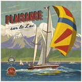 Plaisance sur lac Prints by Bruno Pozzo