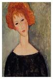 Redhead woman Plakater af Amedeo Modigliani