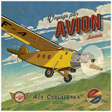 Voyage par avion Poster by Bruno Pozzo
