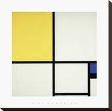 Composition with Blue and Yellow Stretched Canvas Print by Piet Mondrian