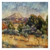 La mpontagne sainte victoire Posters by Auguste Renoir