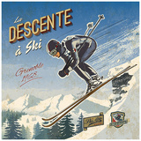 Ski descente Prints by Bruno Pozzo