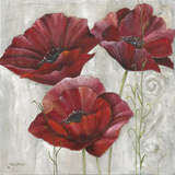 Three poppies II Prints by Rian Withaar