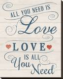 All You Need is Love Stretched Canvas Print by Tom Frazier