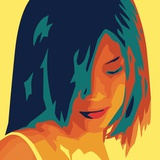 The Girl from Okinawa (yellow) Art by Javier Palacios