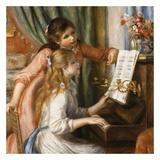 Jeunes filles au piano Kunstdrucke von Auguste Renoir