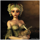 Lapin Lámina por Isabelle Chaynee