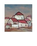 Houses II Print by Victor Moreno