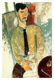 Portrait of Henri Laurens Posters by Amedeo Modigliani