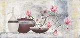 Pink Magnolias I Print by David Sedalia