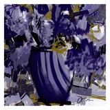 Dark blue flowers Prints by Doris Savard