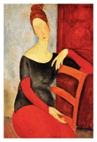 The Artist's wife Prints by Amedeo Modigliani