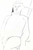 Portrait drawing Prints by Amedeo Modigliani