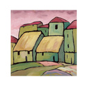 Houses III Prints by Victor Moreno