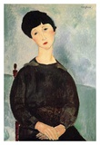 Seated young woman Art by Amedeo Modigliani