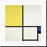 Composition with Blue and Yellow Reproduction sur toile tendue par Piet Mondrian