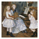 The daughters of Catulle Mendes Prints by Auguste Renoir