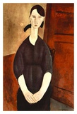 Woman with black dress Prints by Amedeo Modigliani
