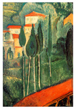 Landscape Southern France Posters by Amedeo Modigliani
