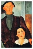 Jacques and Berthe Lipchitz Posters by Amedeo Modigliani