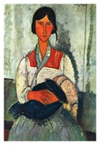 Gypsy woman with baby Posters by Amedeo Modigliani