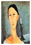 Portrait of Anna Zborowska Prints by Amedeo Modigliani