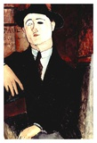 Portrait of Paul Guillaume Stampe di Amedeo Modigliani