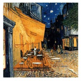 Cafe Terasse in the Evening Poster af Vincent van Gogh