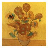 Quatorze tournesols dans un vase (Détail) Poster von Vincent van Gogh