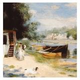 Vue de Bougival Print by Auguste Renoir