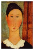 Head of a girl Posters by Amedeo Modigliani