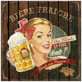 Bière fraîche Plakater af Bruno Pozzo