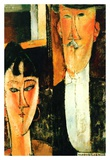 Bride and groom Prints by Amedeo Modigliani
