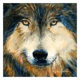 Regard inquiet du loup Posters by Sylvia Audet