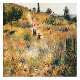 Chemin montant dans les hautes herbes Poster by Auguste Renoir
