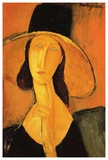 Woman with large hat Posters by Amedeo Modigliani
