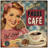 Pause café Posters by Bruno Pozzo