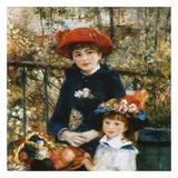 À la terrace Posters by Auguste Renoir