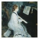 Femme au piano Print by Auguste Renoir