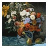 Fleurs dans un pot en faïance Posters by Auguste Renoir