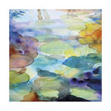 Ornamental Pond 2 Giclee Print by Helen Wells