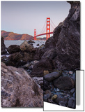 View From The Rocks , Golden Gate Bridge, San Francisco Print by Vincent James