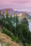 Scene at the Mysterious Wizard Island, Crater Lake Oregon Photographic Print by Vincent James