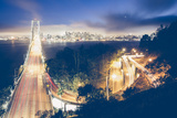 San Francisco Bay Bridge Night Cityscape, California Photographic Print by Vincent James