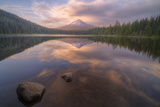 Moody Reflections at Trillium Lake, Oregon Photographic Print by Vincent James