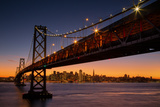 Bay Bridge and San Francisco Cityscape, California Photographic Print by Vincent James