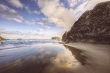 Beachscape at Lovely Bandon Beach, Oregon Coast Photographic Print by Vincent James