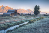 Chilly Morning at Mormon Row, Grand Teton Wyoming Photographic Print by Vincent James